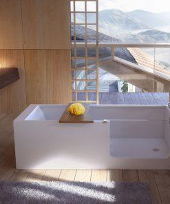 Μπανιέρα elle bath με γυάλινη πόρτα