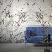 GRANDE MARBLE LOOK CAPRAIA BOOKMATCH A LUX RETTIFICATO Size160x320cm and B LUX RETTIFICATO Size160x320cm