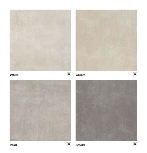 Dust white, cream, pearl, smoke