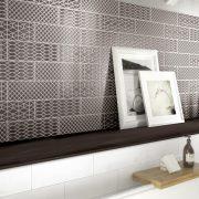 Brick_Glossy_004_White & Decoro Anthracite 10×30