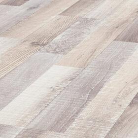 F10 Rough-sawn gray-white oak 2-strip flooring