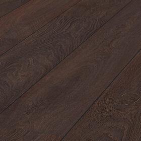 F12 deep brown oak wide plank
